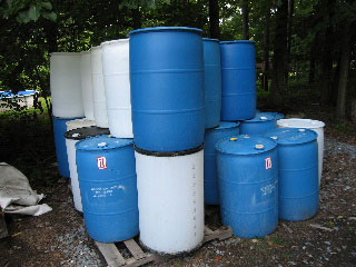 55 Gallon Plastic Polyethylene Barrels Closed Head